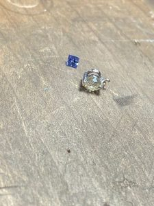 タンザナイトとダイヤモンド