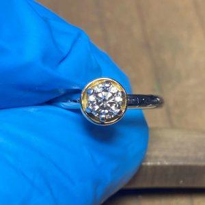 クリーニング後のダイヤモンド