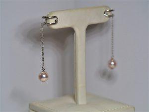アコヤ真珠のシルバーイヤーカフ
