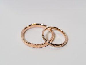 結婚指輪 ピンクゴールド ミルグレイン03